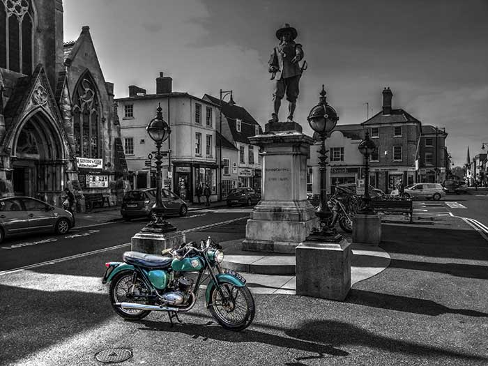 BSA Bantam in St. Ives Square Cambridgeshire March 2014