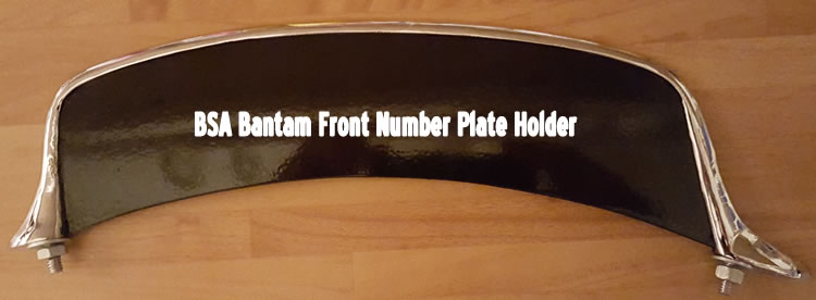 custom BSA Bantam number plate holder