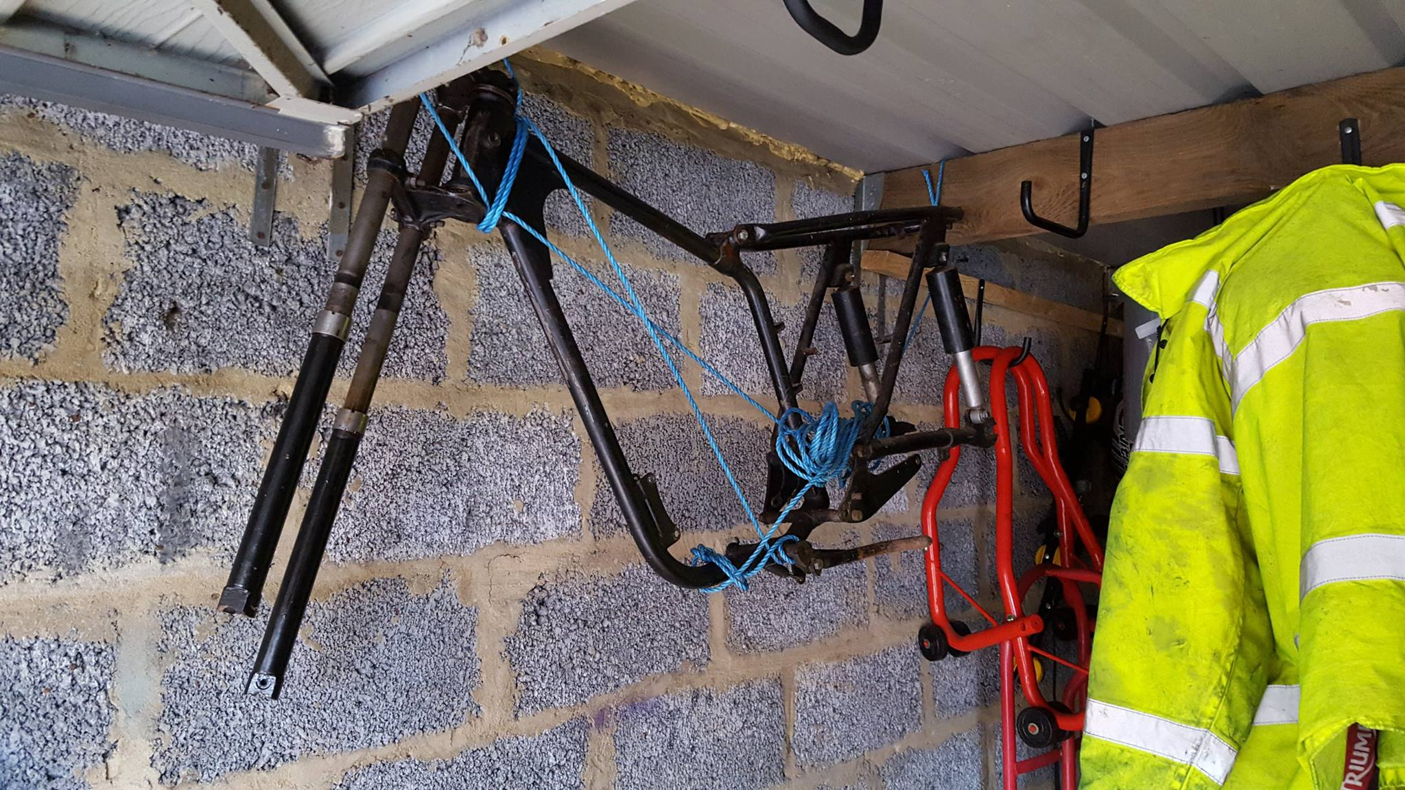 bantam frame 2 in garage